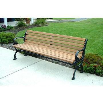 ... China Low Price Outdoor Waterproof Carbon Fiber Public Long Chair Cast  Aluminum Legs Wooden Garden Bench ...