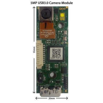 5 MP USB 3 0 Camera Module with HD 1280x720 (720p) 60fps