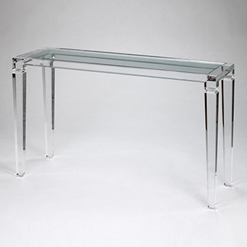 WHOLESALE Luxury Acrylic clear home & hotel glass console table