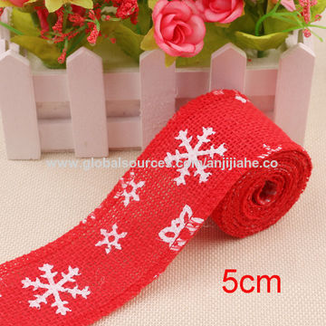 china jute burlap ribbon for christmas fancy burlap christmas ribbon customized size pattern