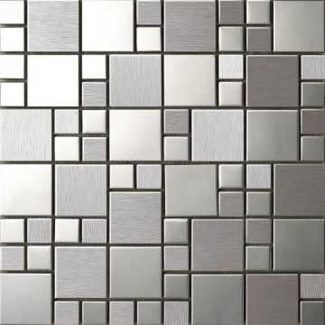 China Stainless Steel Mosaic Tiles Metal 5mm 8mm Thick