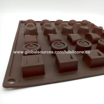 China 30 holes patterns silicone chocolate mold