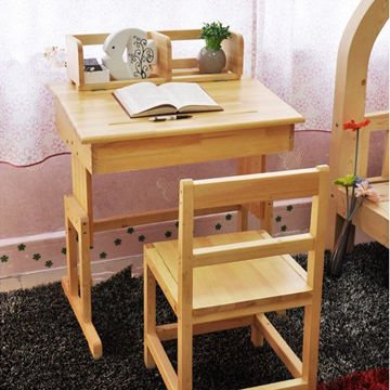 China Childrens Study Table And Chair Solid Wood