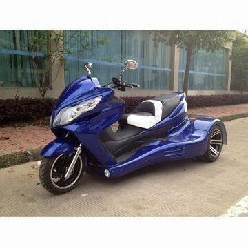 China Motorcycle Trike With Front Back Disc Brakes And Automatic Transmission