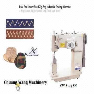 Post Bed Lower Feed Zigzag Industrial Sewing Machine Global Sources Inspiration Post Bed Industrial Sewing Machine