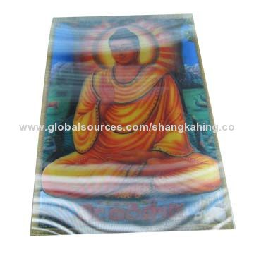 China custom made 3d lenticular hologram sticker in 2 or 3 images with some motion