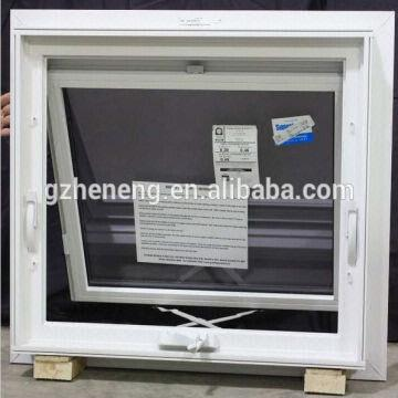 China Pvc Top Fixed Bottom Awning Open Out Hopper Windows With Double Gl Internal Blinds
