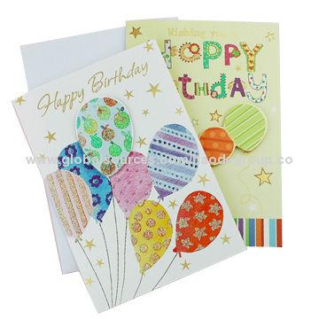 High Quality Paper Material Birthday Card Wedding Card Diy