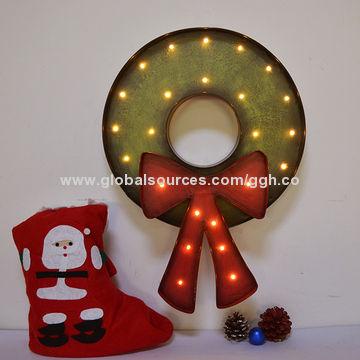 LED vintage metal Christmas wreath   Global Sources