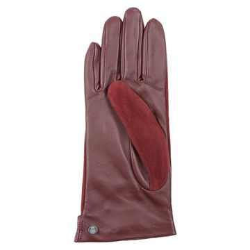 China Red suede & leather gloves for wholesale