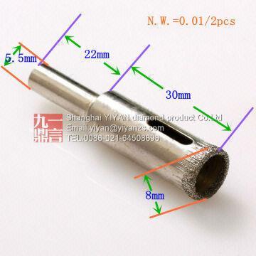 China Cheap Sale Granite Drill Bits Gldrill Bit Diamond Grit Hole Saw 8mm Diamond