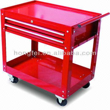 2-drawer utility auto shop roller metal tool cart tool  sale used ...