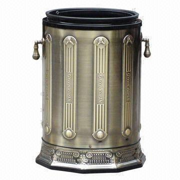 China 10l Trash Can Without Lid With Various Antique Bronze Colors For Optional