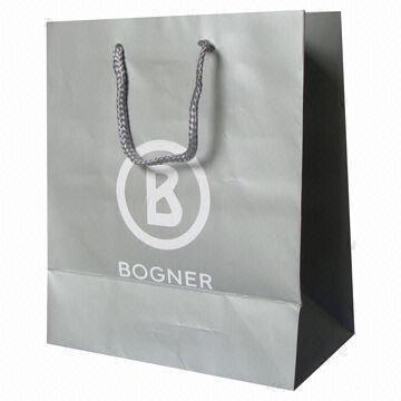 paper bag bristol or couche paper in silver 30 x 10 x 40cm