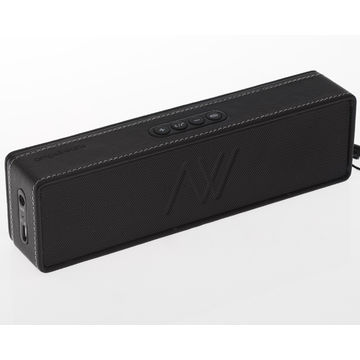 Portable Wireless Speaker with Built-in Power Bank, Retractable Charging Cable and Hidden Adapter