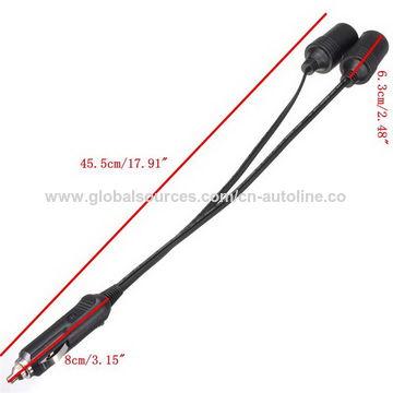 China 12V Car Automobile Twin Cigarette Lighter Socket Adaptor Splitter Charger