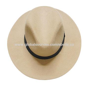 093fd3c0156cc China Chic Wide Brim Wool Felt Hats for Men