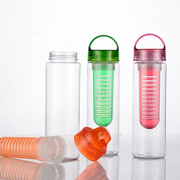 China 750ml water bottle fruit infuser;Bpa free tee infuser;eco .