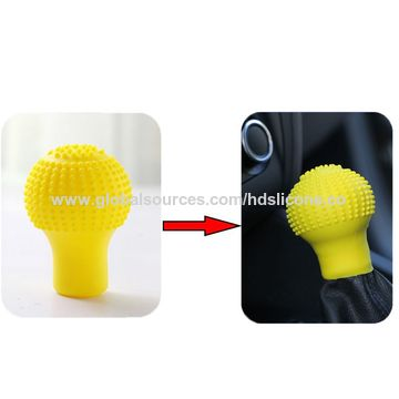 China Styling Nonslip Soft Silicone Gear Shift Knob Cover