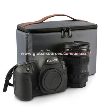 China Custom Photo Dslr Slr Waterproof Padded Foldable Inner Case Camera Bag Insert With Leather Handle On Global Sources