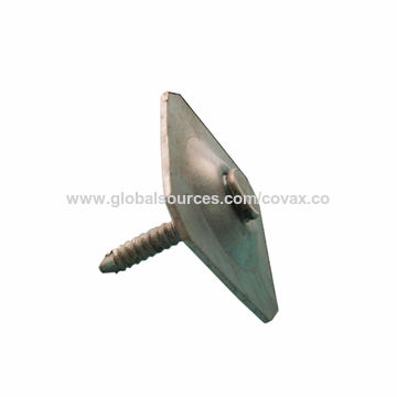 China Metal Square Cap Nail Ring Shank Roofing