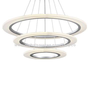 China 3 Tier Ring Led Pendant Light Super Bright 102w Ce