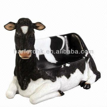 Beautiful ... Hong Kong SAR Giant Life Size Cow Chair   Fiberglass Resin Gard