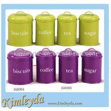 Biscuit Tea Coffee Sugar Canister Set China