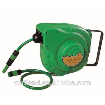 China Hose Reel For Garden   Wall Mounted Automatic Retractable Water Garden  Hose Reel With Nozzle