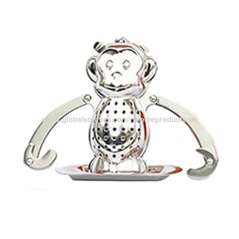 china stainless steel monkey shape tea ball tea infusers