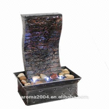 China mini slate water fountain indoor decorative art craft -tabletop  waterfall -either battery or