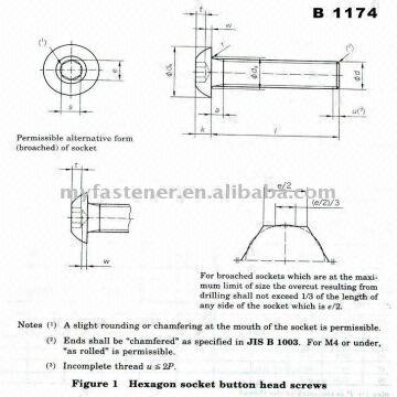 Hexagon Socket Button Head Cap Screws Iso7380 Sizem3 M16 Grade88s