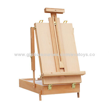 China Professional wooden painting table top easel stand for