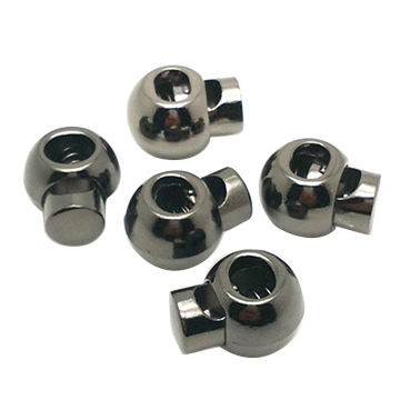 China 6mm Black Nickel Rope Stopper Cord Lock Stopper For Clothing