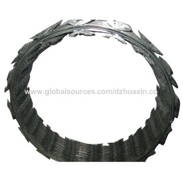 China Razor Barbed Wire, Used for Military in Field, Prisons ...