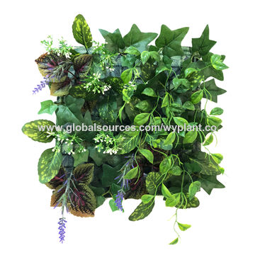 China Artificial Plant Panel Wall Mounted In Outdoor Green Lilac On Global Sources Fake Plant Faux Plant Plant Mats