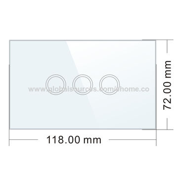 China UK standard LED light smart touch switch with high quality anti-flaming ABS material