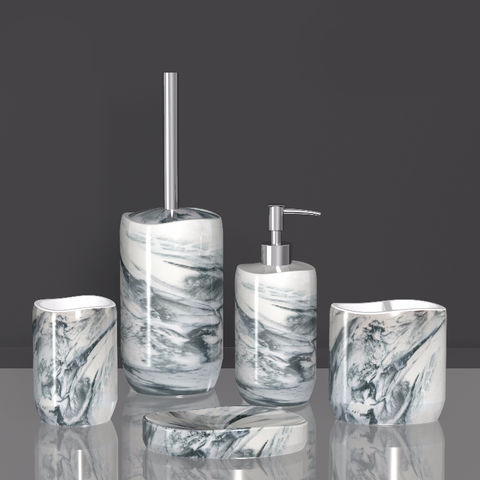 Clear Resin Bathroom Accessories Sets, Clear Bathroom Accessories