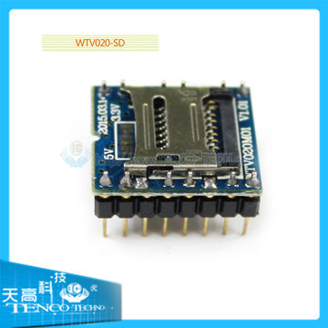 U-disk audio player SD card voice MP3 sound module, WTV020