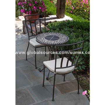 china vulcano mosaic bistro set for indoor or outdoor use cushions included