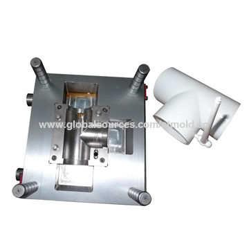 Tee PVC Pipe Fitting Mold with HASCO Ejectors and LKM Base