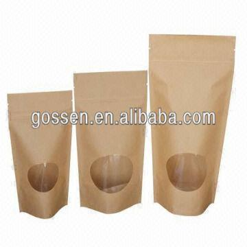 China Food Grade Packaging Brown Kraft Paper Bag