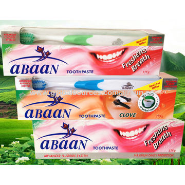 China Abaan Fluoride Toothpaste, 175g