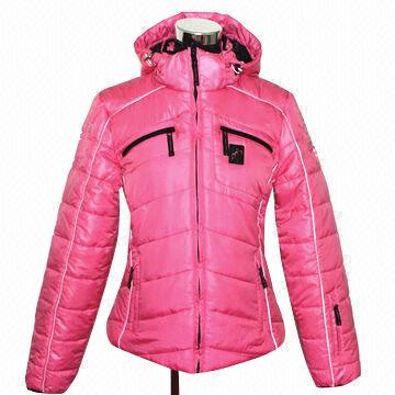 Women's Trendy Warm Pink Outdoor Winter Ski Down Jacket | Global ...