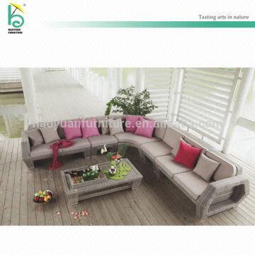 ... China Waterproof L Shape Sofa Set Corner Sofa