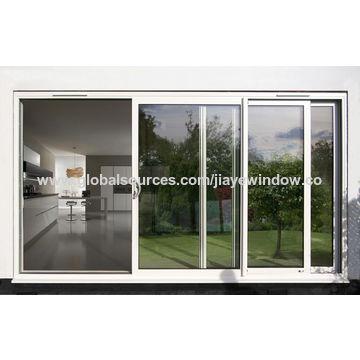 ... China Balcony Aluminum Sliding Aluminum Frosted Glass Door ...
