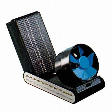 Portable Solar Car Ventilator With Battery Charger For Aa Or