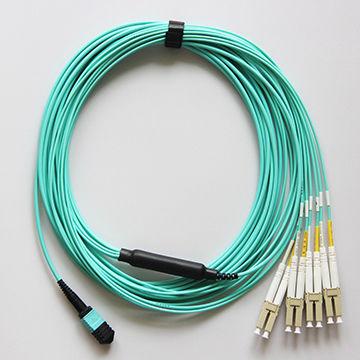 92524a3acf Nice Quality MPO-LC PC 8 Core MM OM3 Aqua Color Fiber Optic Patch ...
