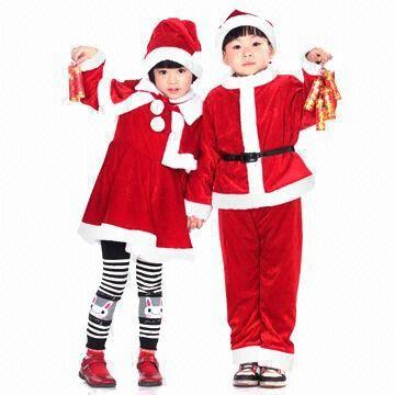 Christmas Dance Costume For Children Holiday Wear With Hat