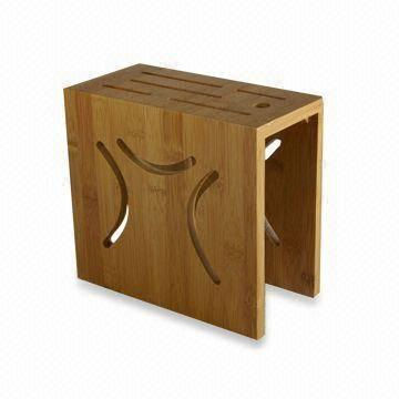 Bamboo Knife Block With Mineral Oilpaint Customized Sizes Are